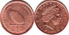 coin Isle of Man 1 penny 1998