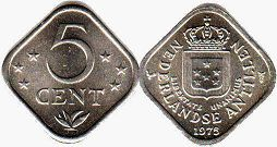 coin Netherlands Antilles 5 cents 1978