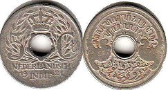 coin Netherlands East-Indies 5 cents 1921