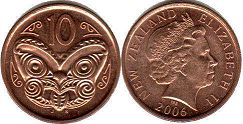 coin New Zealand 10 cents 2006