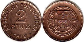 coin Portugal 2 centavos 1918