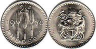 coin Rhodesia 2.5 cents 1970