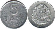 coin Romania 5 bani 1975