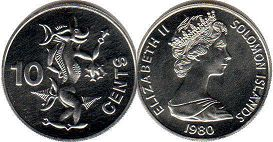 coin Solomon Islands 10 cents 1980