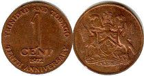 coin Trinidad and Tobago 1 cent 1972