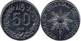 coin Ururuay 50 new pesos 1989