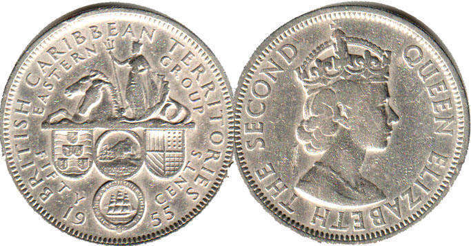 East Caribbes - online free coins catalog with photos and