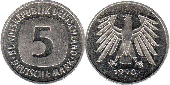 German Federal Republic Coins Catalog