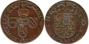 coin Spanish Netherlands oord 1693