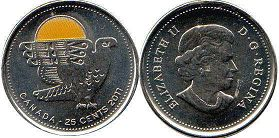 coin canadian commemorative coin 25 cents 2011