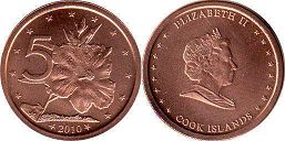 coin Cook Islands 5 cents 2010