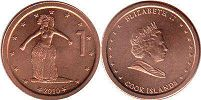 coin Cook Islands 1 cent 2010
