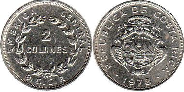 coin Costa Rica 2 colones 1978