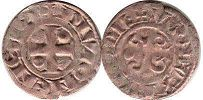 coin Burgundy denier 1218-1272