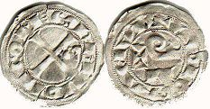 coin Toulouse denier 1222-1249