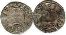 coin Toulouse denier 1249-1271