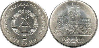 coin East Germany 5 mark 1972