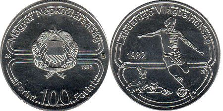 coin Hungary 100 forint 1982