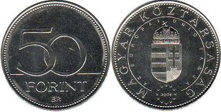 coin Hungary 50 forint 2004