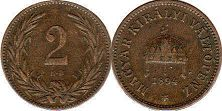 coin Hungary 2 filler 1894