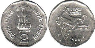coin India 2 rupees 2000