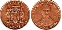 coin Jamaica 10 cents 1996
