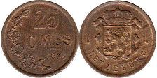 coin Luxembourg 25 centimes 1946