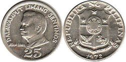 coin Philippines 25 centimos 1972