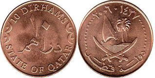 coin Qatar10 dirhams 2006