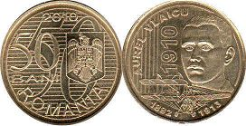 coin Romania 50 bani 2010