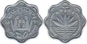 coin Bangladesh 10 poisha 1977