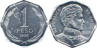 moneda Chilli 1 peso 1992