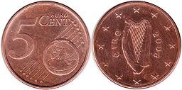 coin Ireland 5 euro cent  2008