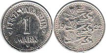 coin Estonia 1 mark 1922