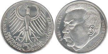 coin BRD 5 mark 1975