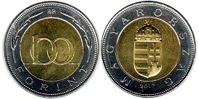 coin Hungary 100 forint 2017