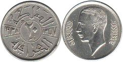 coin Iraq 20 fils 1938