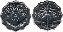 coin Iraq 5 fils 1975