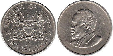 coin Kenya 2 shillings 1966