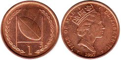 coin Man Isle 1 penny 1997