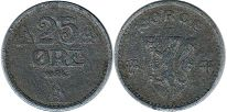 coin Norway 25 ore 1943