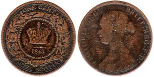 monnaie Nova Scotia 1 cent 1861