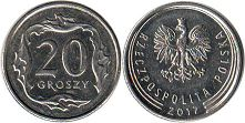 coin Poland 20 groszy 2017