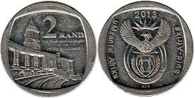coin South Africa 2 rand 2013 Union Buildings
