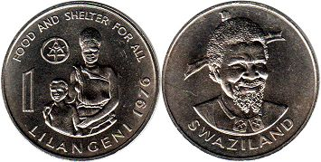 coin Swaziland 1 lilangeni 1976