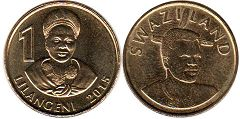 coin Swaziland 1 lilangeni 2015