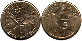 coin Swaziland 2 emalangeni 2015