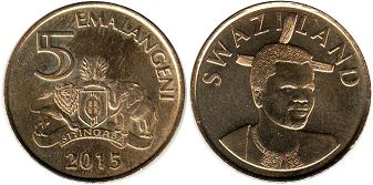 coin Swaziland 5 emalangeni 2015
