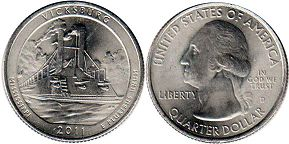 coin US commemorative coin 1/4 dollar 2011 quarter National Parks - Olympic