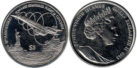 coin Virgin Islands 1 dollar 2013